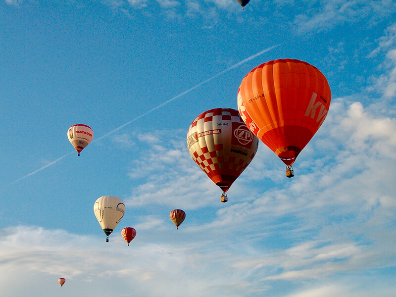 Vyhlídkové lety horkovzdušným balónem
